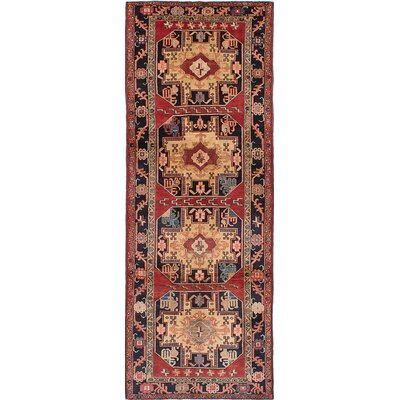 Meshkin Hand-Knotted Red Area Rug