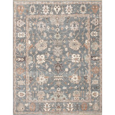 One-of-a-Kind Beth Hand-Knotted Gray Area Rug