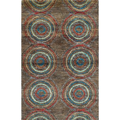 Brewster Hand-Knotted Brown Area Rug