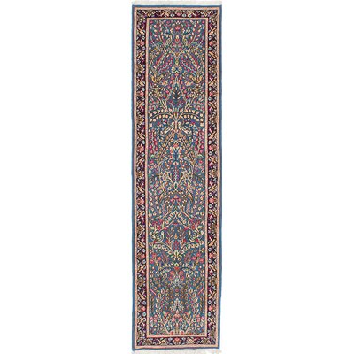 Kerman Hand-Knotted Blue Area Rug
