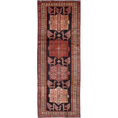 Lin Hand-Knotted Black/Red Area Rug