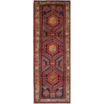 Lin Hand-Knotted Red Area Rug