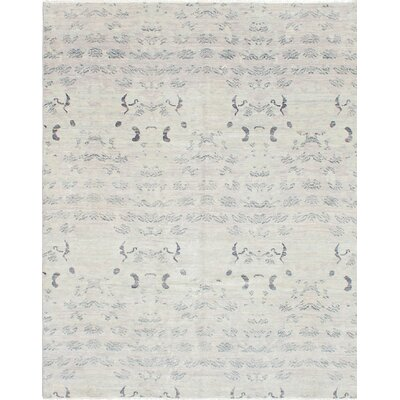 Finest Ushak Hand-Knotted Gray Area Rug