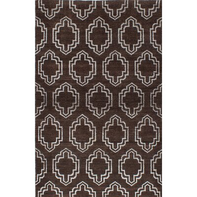 La Seda Hand-Knotted Brown Area Rug