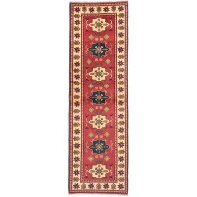 One-of-a-Kind Bunkerville Hand-Knotted Red Area Rug