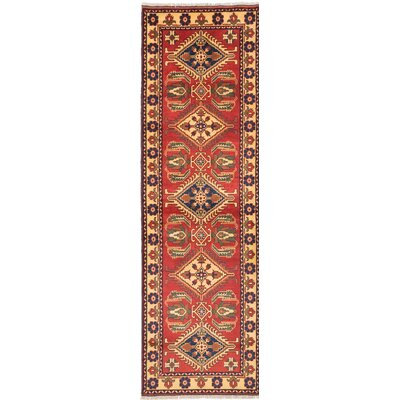 Bunkerville Hand-Knotted Red Area Rug