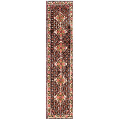 Senneh Hand-Knotted Red Area Rug