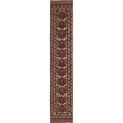 Ghafkazi Hand-Knotted Beige/Red Area Rug