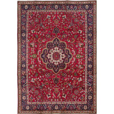Tabriz Hand-Knotted Red Area Rug
