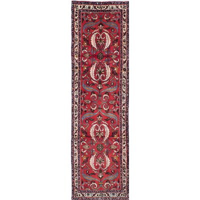 One-of-a-Kind Lilihan Hand-Knotted Red Area Rug