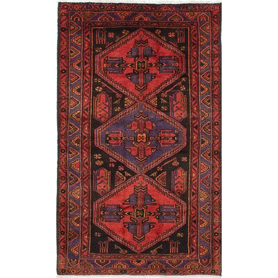 Zanjan Hand-Knotted Brown/Red Area Rug