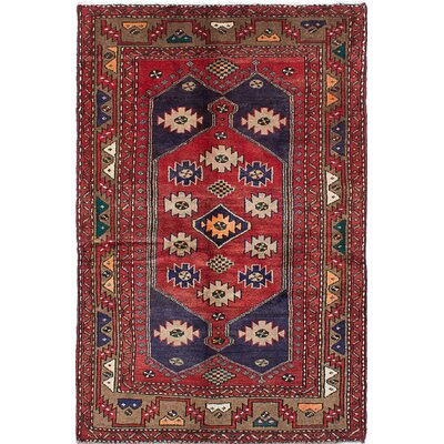 One-of-a-Kind Mousel Hand-Knotted Red Area Rug