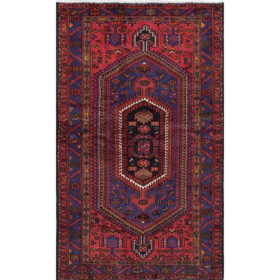 Zanjan Hand-Knotted Red Area Rug