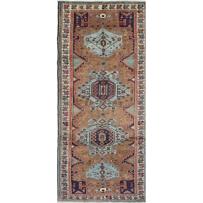 Roodbar Hand-Knotted Blue/Brown Area Rug