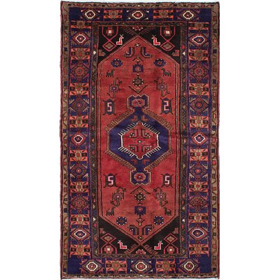 Roth Traditional Hand-Knotted Red Area Rug