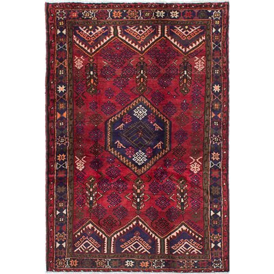 Asadabad Hand-Knotted Red Area Rug