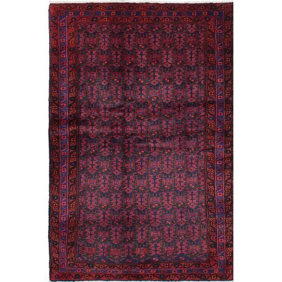 Roth Hand-Knotted Blue/Red Area Rug