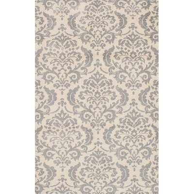 One-of-a-Kind Pontus Hand-Knotted Cream/Dark Gray Area Rug
