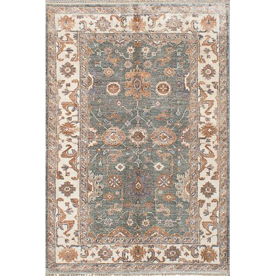 One-of-a-Kind Beth Hand-Knotted Turquoise Area Rug