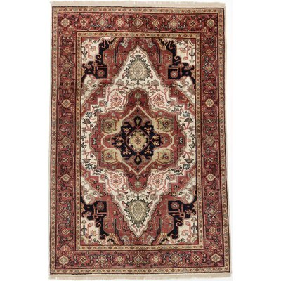 Serapi Heritage Hand-Knotted Dark Red Area Rug