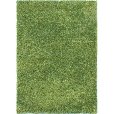 Neon Handmade Wool Emerald Green Area Rug