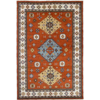 One-of-a-Kind Berkshire Hand-Knotted Cream/Dark Copper Area Rug