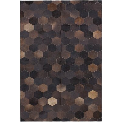 Santiago Handmade Black/Dark Brown Rug