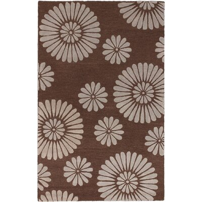 Soho Flower Hand-Tufted Dark Brown/Gray Area Rug
