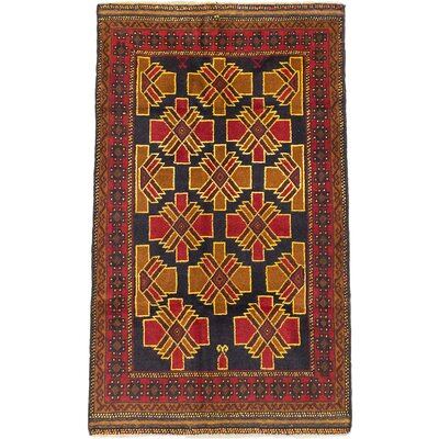 One-of-a-Kind Royal Balouch Hand-Knotted Yellow/Light Brown Area Rug