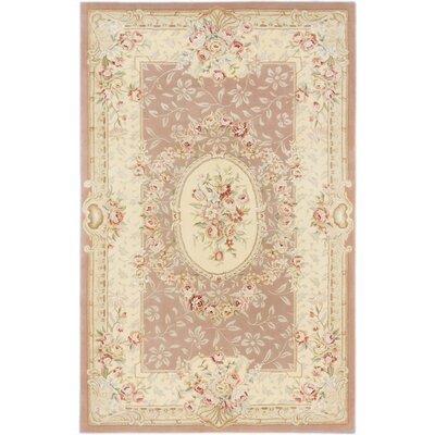 Savonnerie Hand-tufted Dark Cream Area�Rug