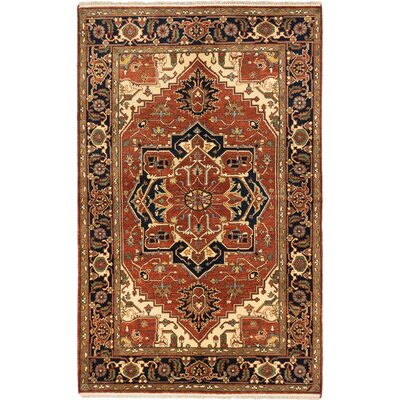 Serapi Heritage Hand-Knotted Copper/Black/Cream Area Rug