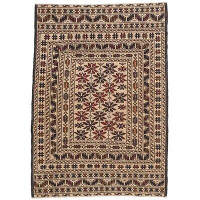 Shiravan Sumak Hand-Woven Cream Area Rug