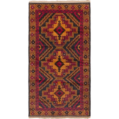 Royal Balouch Hand-Knotted Dark Burgundy/Orange Area Rug