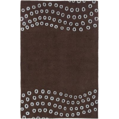 One-of-a-Kind Aurora Hand-Knotted Dark Brown Area Rug