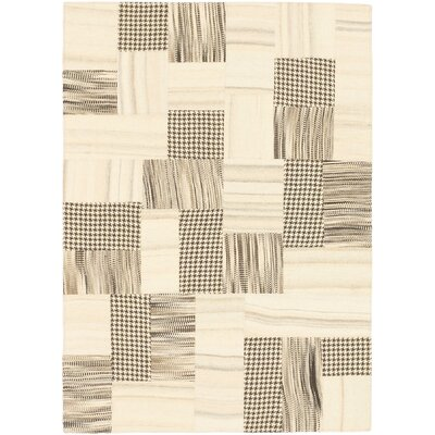 Moldovia Patch Hand-Woven Cream/Black Area Rug