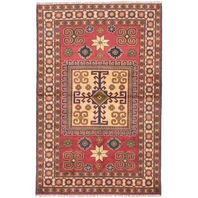 One-of-a-Kind Bunkerville Hand-Knotted Dark Burgundy Area Rug