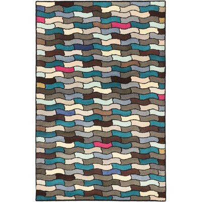 Mcclain Hand-Tufted Ivory/Turquoise/Brown Area Rug
