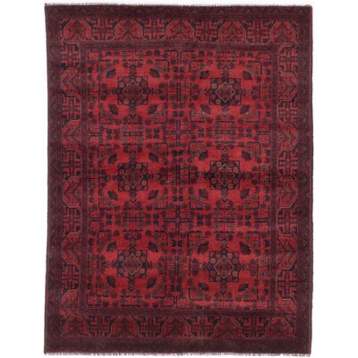 One-of-a-Kind Rosales Hand-Knotted Wool Dark Burgundy Indoor Area Rug