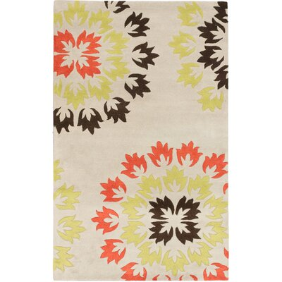 Soho Flower Hand-Tufted Yellow/Orange/Cream Area Rug