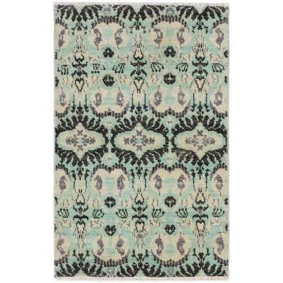 One-of-a-Kind Finest Ushak Hand-Knotted Light Blue Area Rug