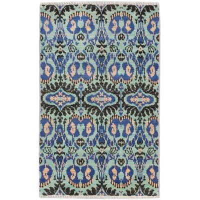 Finest Ushak Hand-Knotted Blue Area Rug
