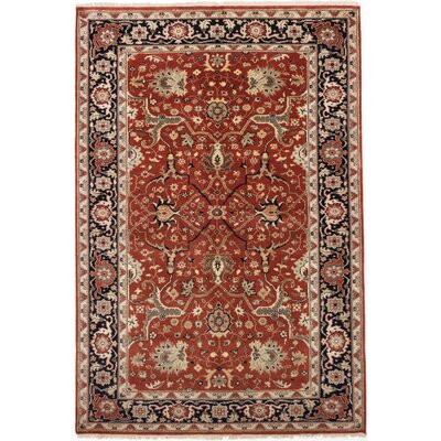 One-of-a-Kind Baldry Hand-Knotted Dark Orange Area Rug