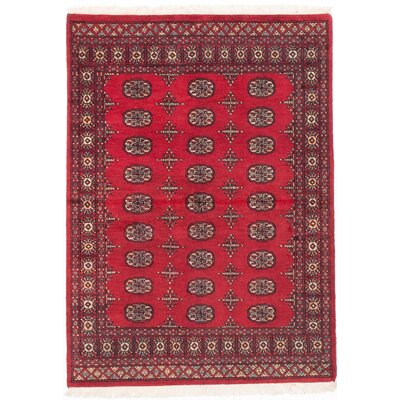 One-of-a-Kind Olney Springs Hand-Knotted Oriental Dark Burgundy Area Rug
