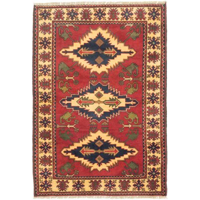 One-of-a-Kind Bunkerville Hand-Knotted Dark Orange/Light Yellow Area Rug