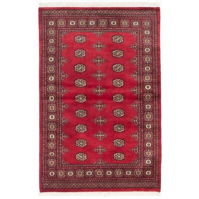 Olney Springs Hand-Knotted Dark Burgundy Area Rug