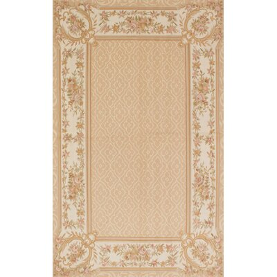 Kirshelle Hand-Knotted Ivory Area Rug
