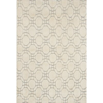 Mystique Hand-Knotted Cream Area Rug