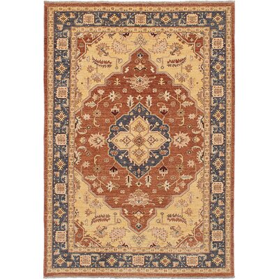 Peshawar Oushak Hand-Knotted Copper Area Rug