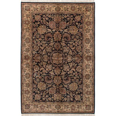 One-of-a-Kind Sultanabad Hand-Knotted Black Area Rug