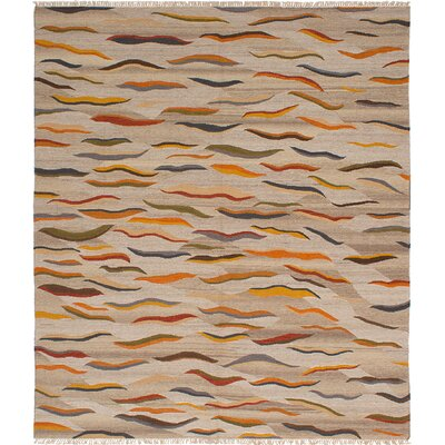 Izmir Kilim Hand-Woven Light Khaki Area Rug